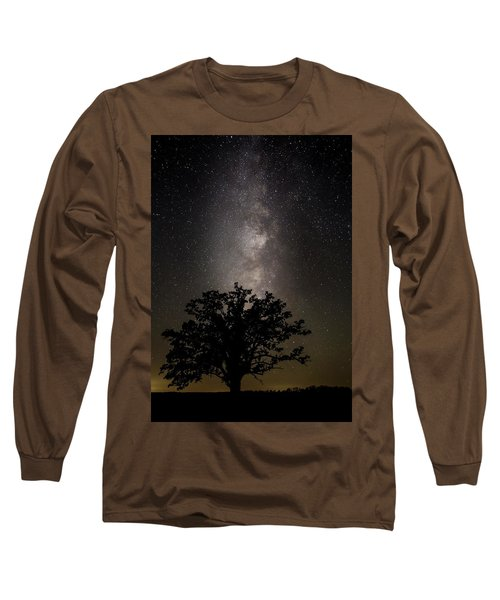 Mcbaine Bur Oak With Milky Way Long Sleeve T-Shirt
