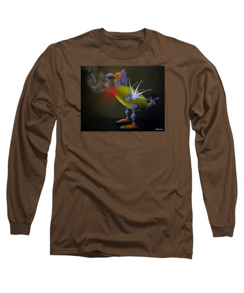 Mechanical Bird Long Sleeve T-Shirt by Ken Morris