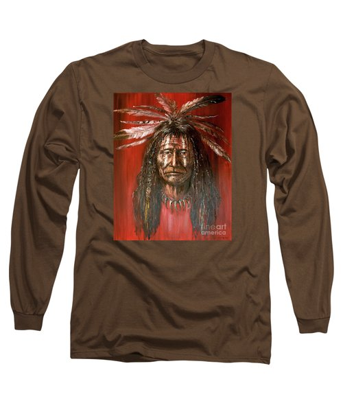 Medicine Man Long Sleeve T-Shirt by Arturas Slapsys