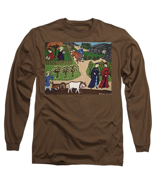 Medieval Fall Long Sleeve T-Shirt by Stephanie Moore