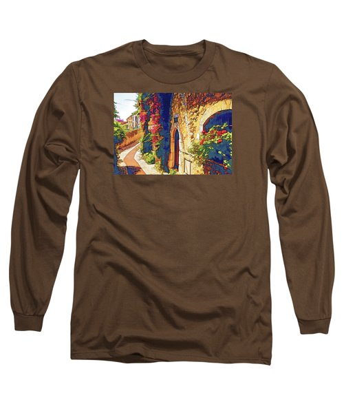Long Sleeve T-Shirt featuring the photograph Medieval Saint-paul-de-vence by Dennis Cox WorldViews