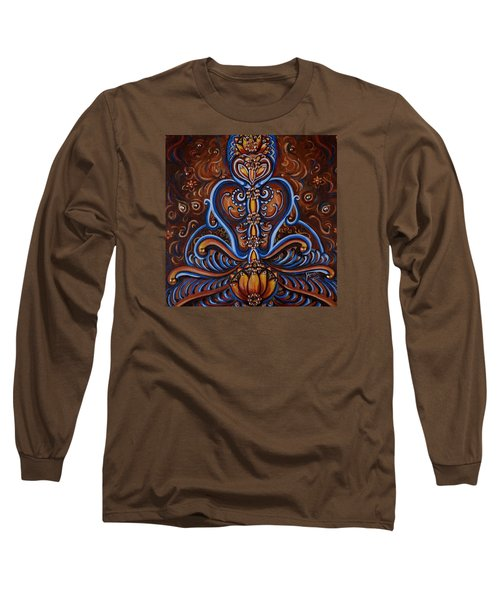 Long Sleeve T-Shirt featuring the painting Meditation by Harsh Malik