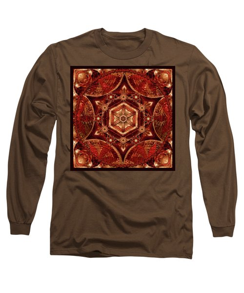 Long Sleeve T-Shirt featuring the digital art Meditation In Copper by Deborah Smith