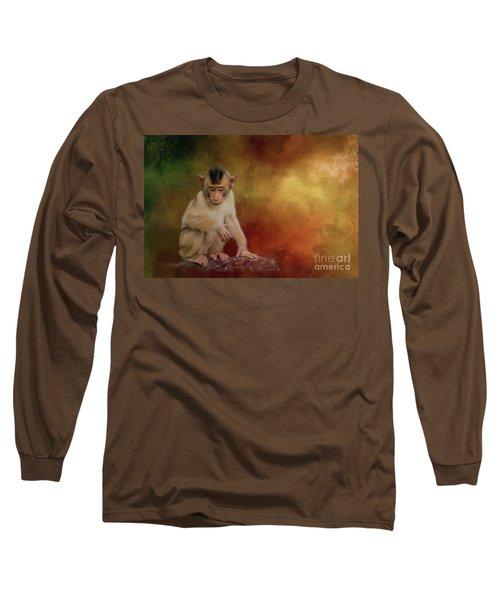 Meditative Long Sleeve T-Shirt by Eva Lechner