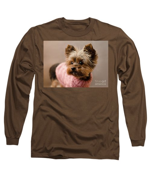Melanie In Pink Long Sleeve T-Shirt