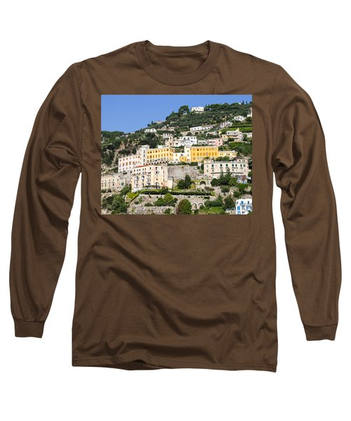 Mellow Yellow Buildings Long Sleeve T-Shirt