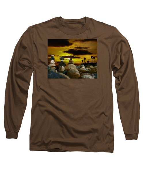 Long Sleeve T-Shirt featuring the digital art Memories In The Twilight by Rhonda Strickland