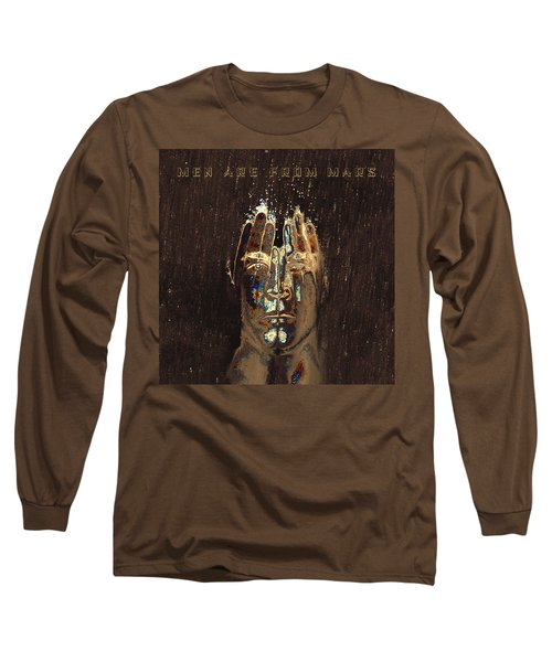 Men Are From Mars Gold Long Sleeve T-Shirt
