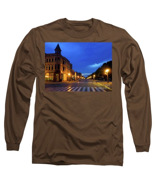 Menominee Michigan Night Lights Long Sleeve T-Shirt