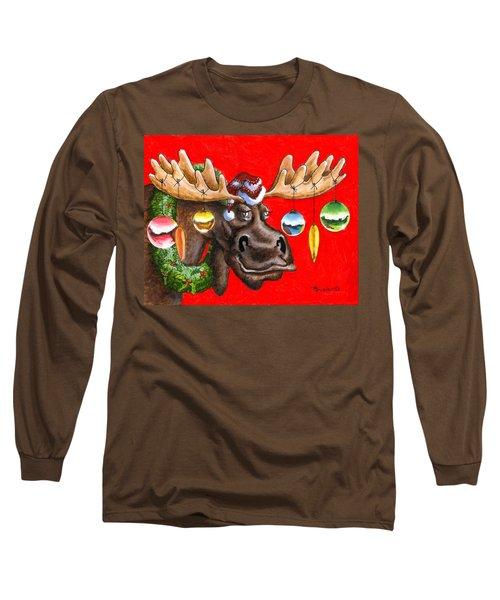 Merry Chris Moose Long Sleeve T-Shirt
