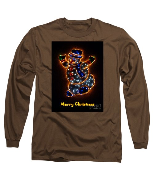 Merry Christmas Long Sleeve T-Shirt by Jean Bernard Roussilhe