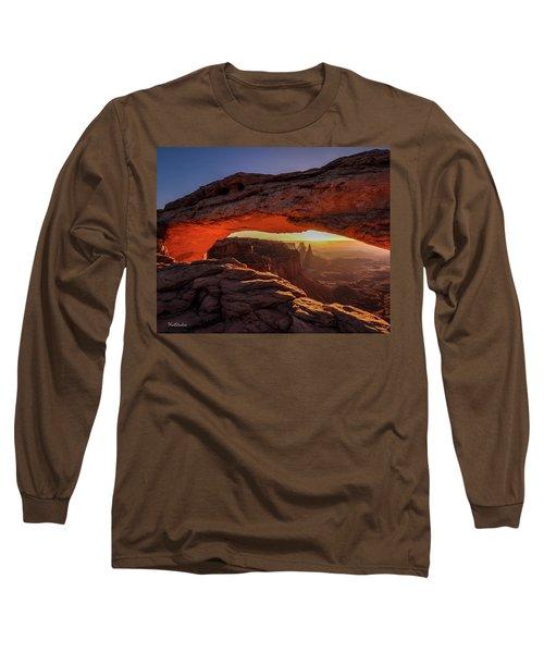 Mesa Arch At Sunrise 1, Canyonlands National Park, Utah Long Sleeve T-Shirt