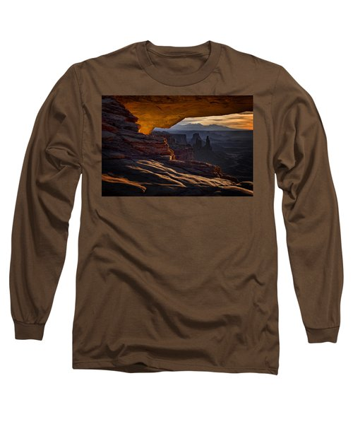Mesa Arch Glow Long Sleeve T-Shirt by Jaki Miller