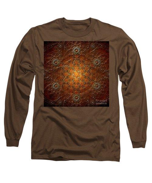 Metatron's Cube Inflower Of Life Long Sleeve T-Shirt