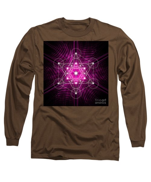 Metatron's Cube Waves Long Sleeve T-Shirt