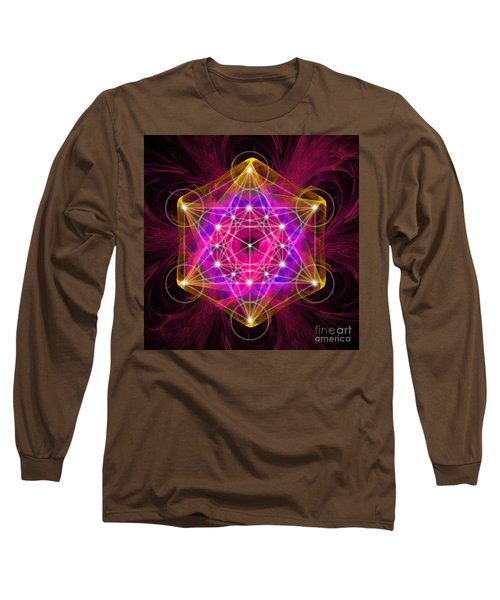 Metatron's Cube With Flower Of Life Long Sleeve T-Shirt