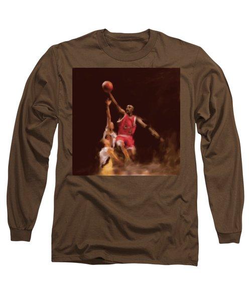 Michael Jordan 548 2 Long Sleeve T-Shirt by Mawra Tahreem