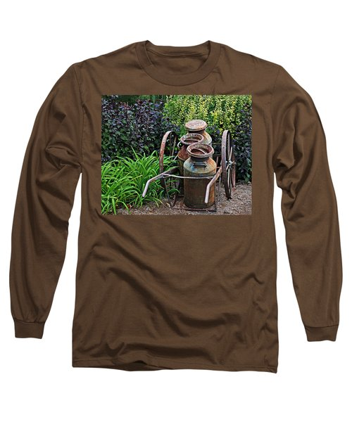 Milk Pails Long Sleeve T-Shirt by Judy Vincent