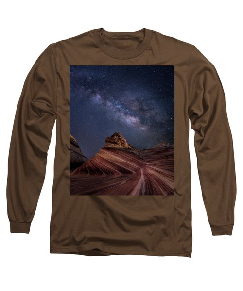 Milky Way And The Wave Long Sleeve T-Shirt