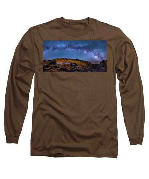 Milky Way Over Mesa Arch Long Sleeve T-Shirt