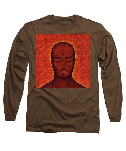 Long Sleeve T-Shirt featuring the mixed media Mind Circles by Gloria Rothrock