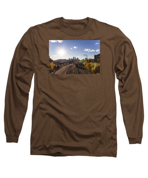 Minneapolis In The Fall Long Sleeve T-Shirt by Zach Sumners