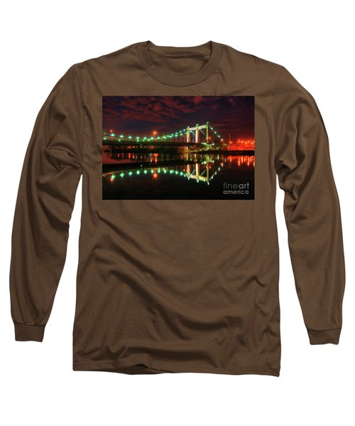 Minneapolis Skyline Hennepin Avenue Bridge Long Sleeve T-Shirt