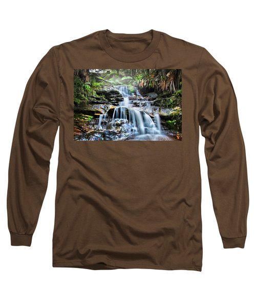 Long Sleeve T-Shirt featuring the photograph Misty Falls by Az Jackson