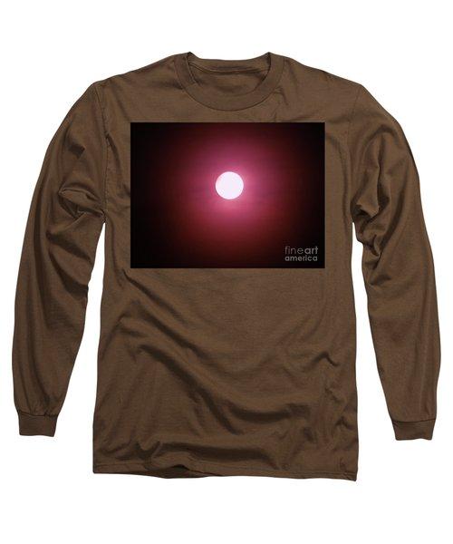 Misty Moon Long Sleeve T-Shirt by J L Zarek