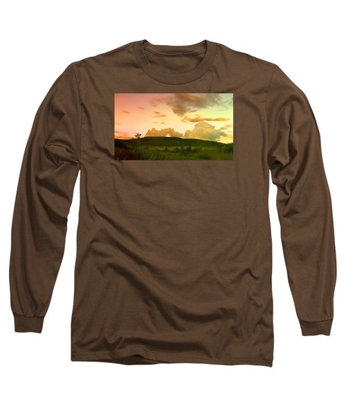 Misty Morning Sunrise Long Sleeve T-Shirt by Mike Breau