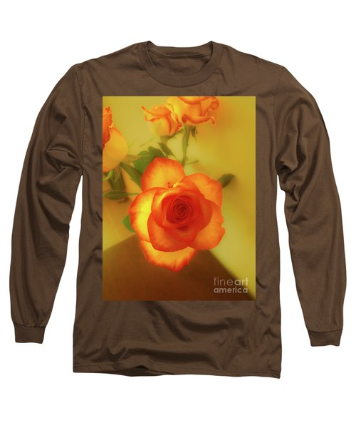 Misty Orange Rose Long Sleeve T-Shirt