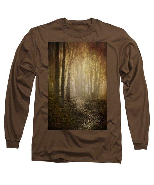 Misty Woodland Path Long Sleeve T-Shirt