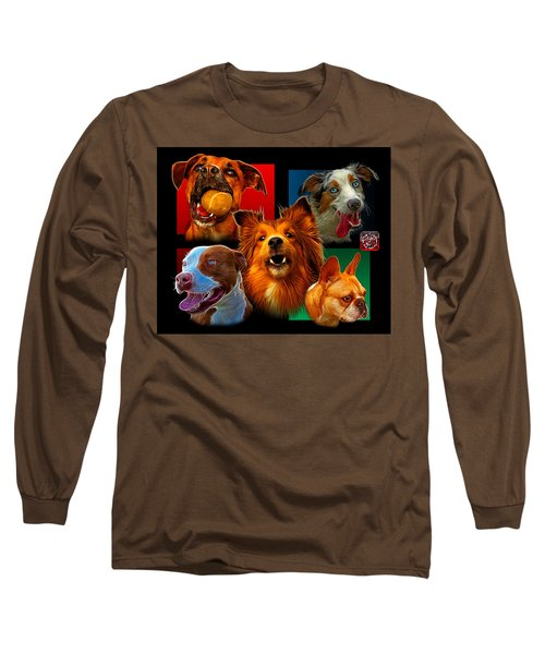 Modern Dog Art - 0001 Long Sleeve T-Shirt