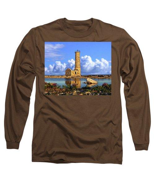 Mohawk Island Lighthouse Long Sleeve T-Shirt by Anthony Dezenzio