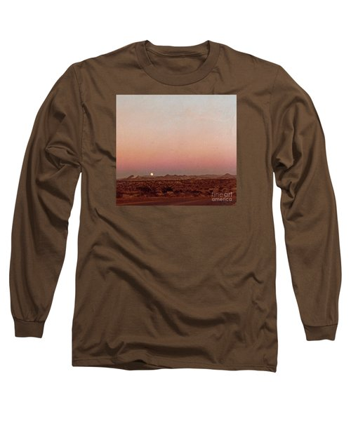 Long Sleeve T-Shirt featuring the digital art Mojave Sunset by Walter Chamberlain