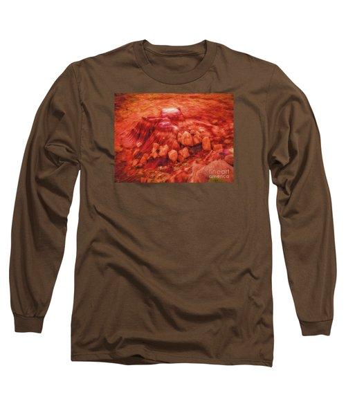 Long Sleeve T-Shirt featuring the photograph Molten Boulders  ... by Chuck Caramella