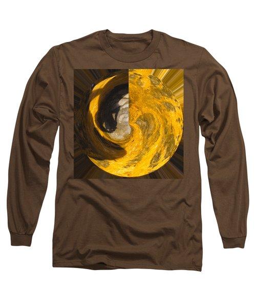 Molten Gold Planet Long Sleeve T-Shirt