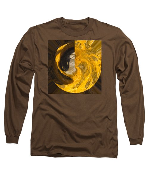 Molten Gold Planet Long Sleeve T-Shirt