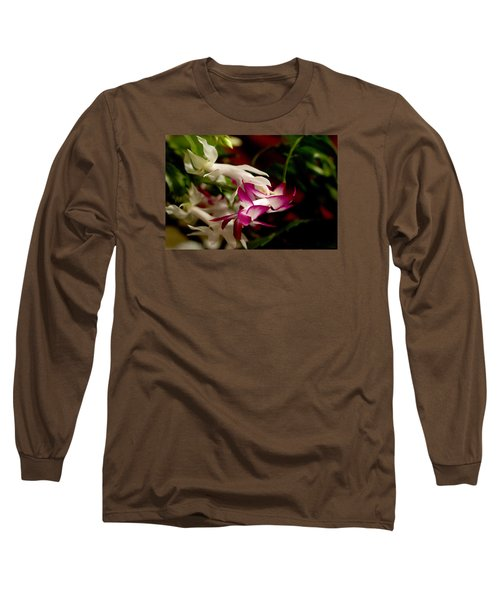 Momma's Christmas Cactus Long Sleeve T-Shirt by B Wayne Mullins