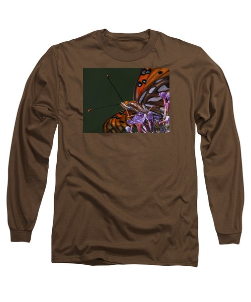 Monarch Butterfly Closeup Long Sleeve T-Shirt