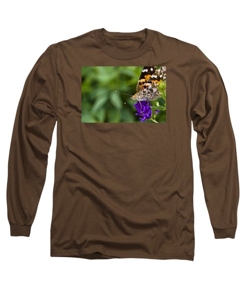 Monarch Butterfly Long Sleeve T-Shirt by Marlo Horne