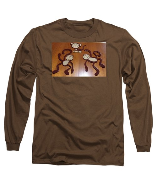 Monkeys Long Sleeve T-Shirt by Val Oconnor