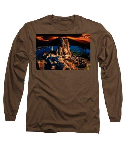 Mono Lake Sunset Long Sleeve T-Shirt