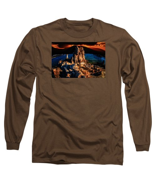 Long Sleeve T-Shirt featuring the photograph Mono Lake Sunset by Harry Spitz