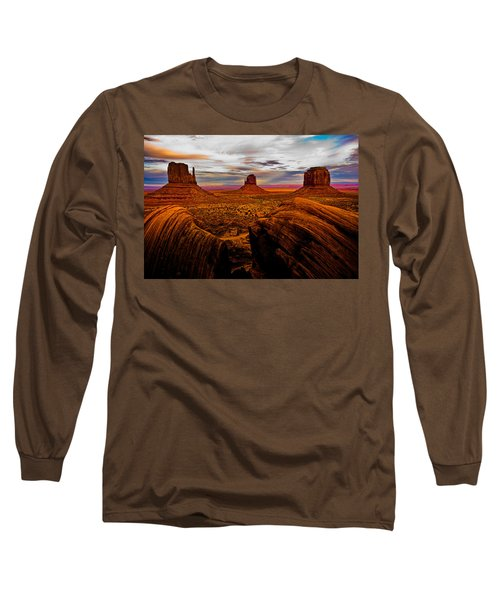 Long Sleeve T-Shirt featuring the photograph Monument Valley by Harry Spitz