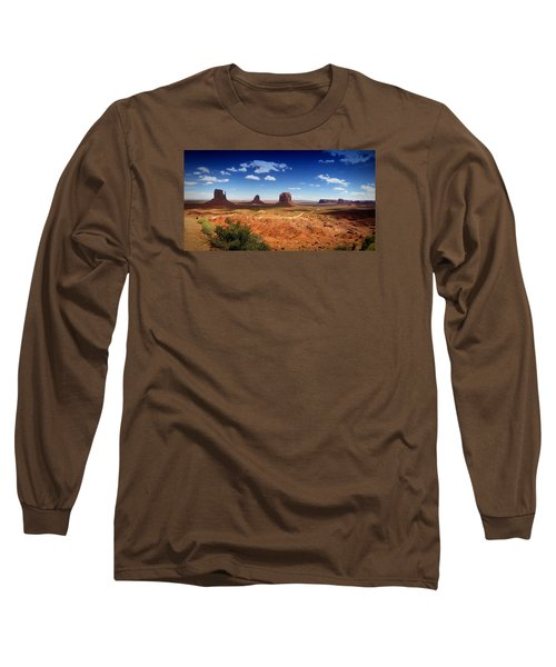 Monument Valley Utah Long Sleeve T-Shirt by James Bethanis