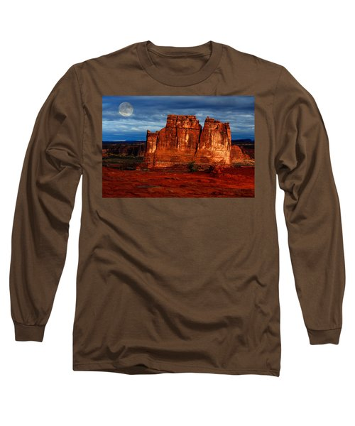 Long Sleeve T-Shirt featuring the photograph Moon Over La Sal by Harry Spitz