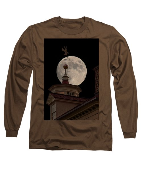 Moon Over Mount Vernon Long Sleeve T-Shirt