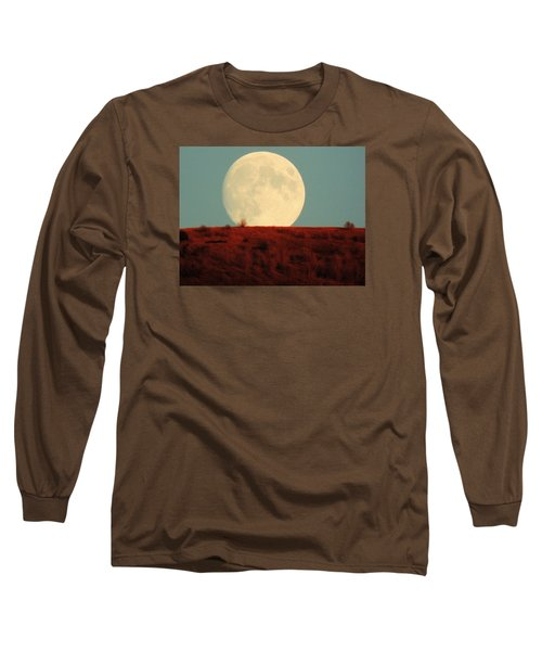Moon Over Utah Long Sleeve T-Shirt by Charlotte Schafer