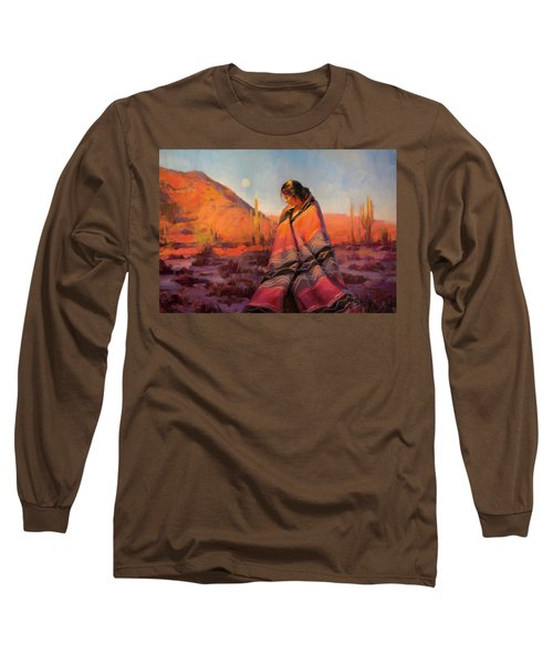 Long Sleeve T-Shirt featuring the painting Moon Rising by Steve Henderson